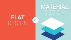 طراحی فلت vs طراحی متریال